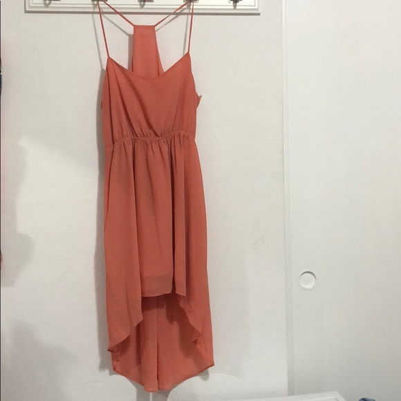 Forever 21 Dresses & Skirts - Peach Spaghetti Strap High Low Dress